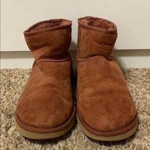 "Short ""Mini"" Maroon Colored UGG Booties"